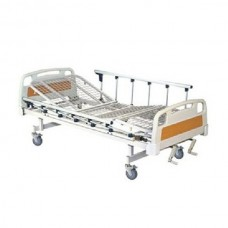 Full Fowler Cot With Abs Panel with Wheels and Side Railing Imported FS-3020W